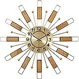 Sunmong Orologio da Parete Orologio da Parete in Metallo Quadrante Dorato con Design Arabo Moderno al Quarzo Orologio Digitale Silenzioso Decorativo Decorazioni per la casa per Cucina abitabile