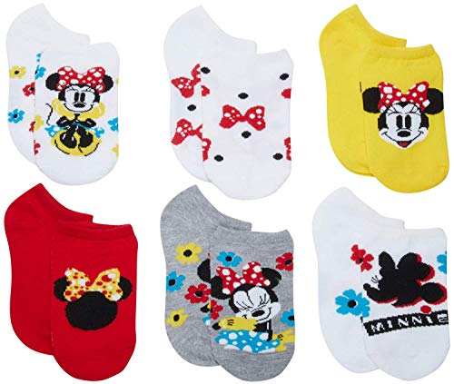 'Disney Girls Minnie Mouse No Show Socks (5 Pack), Size Sock Size: 6-8.5/Shoe Size: 7.5-3.5, Minnie Mouse'