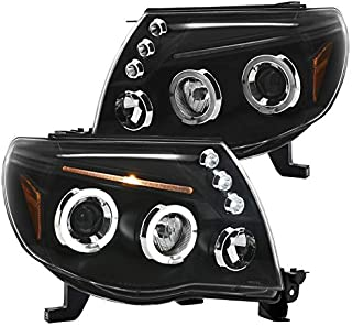 Spec-D Tuning 2LHP-TAC06JM-TM Black Projector Headlight (Halo Led)
