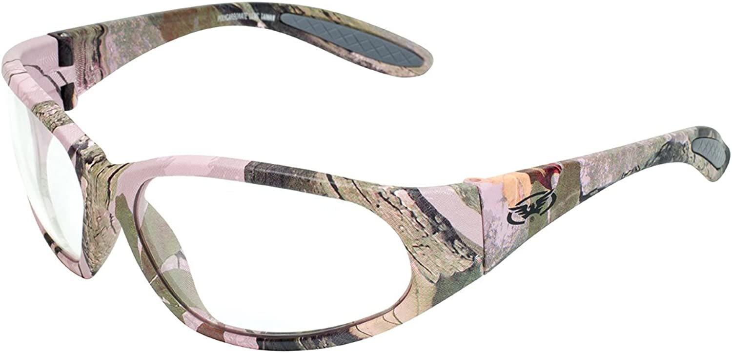 Global Vision Eyewear PinkO CL PinkO Women's Safety Glasses, Clear Lens, Frame, Pink Camo