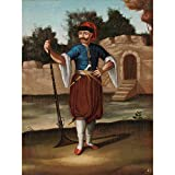 Jean Baptiste Vanmour Albanian Soldier Painting Large Wall Art Poster Print Thick Paper 18X24 Inch Albanien Soldat Gemälde Wand Poster drucken
