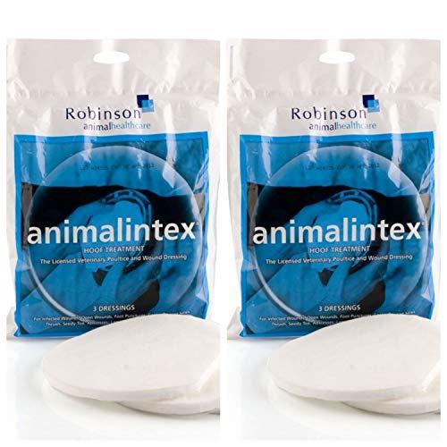 Animalintex – Lot de 2 paquets de 3 pansements de cataplasme pour sabots