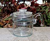 Pyrex 7756 6 Cup Stovetop Coffee Pot Percolator Pot & Lid Only