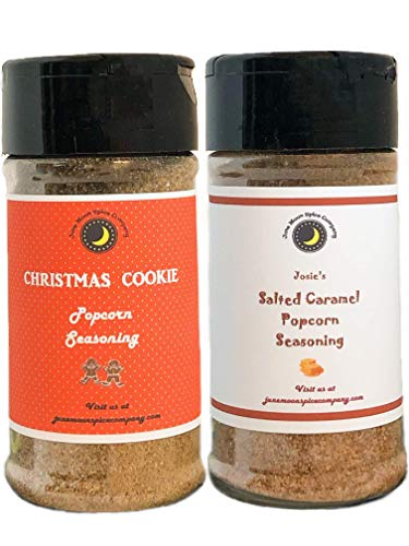 Best Price Premium | POPCORN SEASONING | Variety 2 Pack | Salted Caramel | Christmas Cookie | Crafted in Small Batches with Farm Fresh SPICES for Premium Flavor and Zest | 3.5 oz.