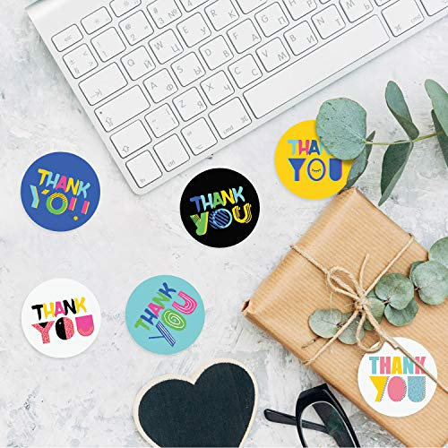 450 Piece Thank You Labels Stickers Seals with 9 Designs, 1.5 inch Round Stickers Envelope Seals Labels for Cards Gift Box Candy Bags Party Favors Photo #6