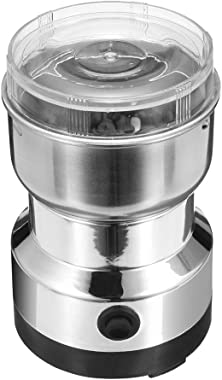 BESTONZON 110V Electric Coffee Spice Beans Grinder Maker with Stainless Steel Blades Grinding Supplies with US Plug for Home Kitchen Cafe