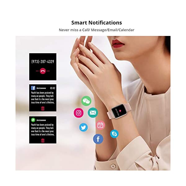 Reloj Inteligente Mujer Hombre, Smartwatch con Pulsómetro, Pulsera Actividad Inteligente con Cronómetros Podómetro… 3