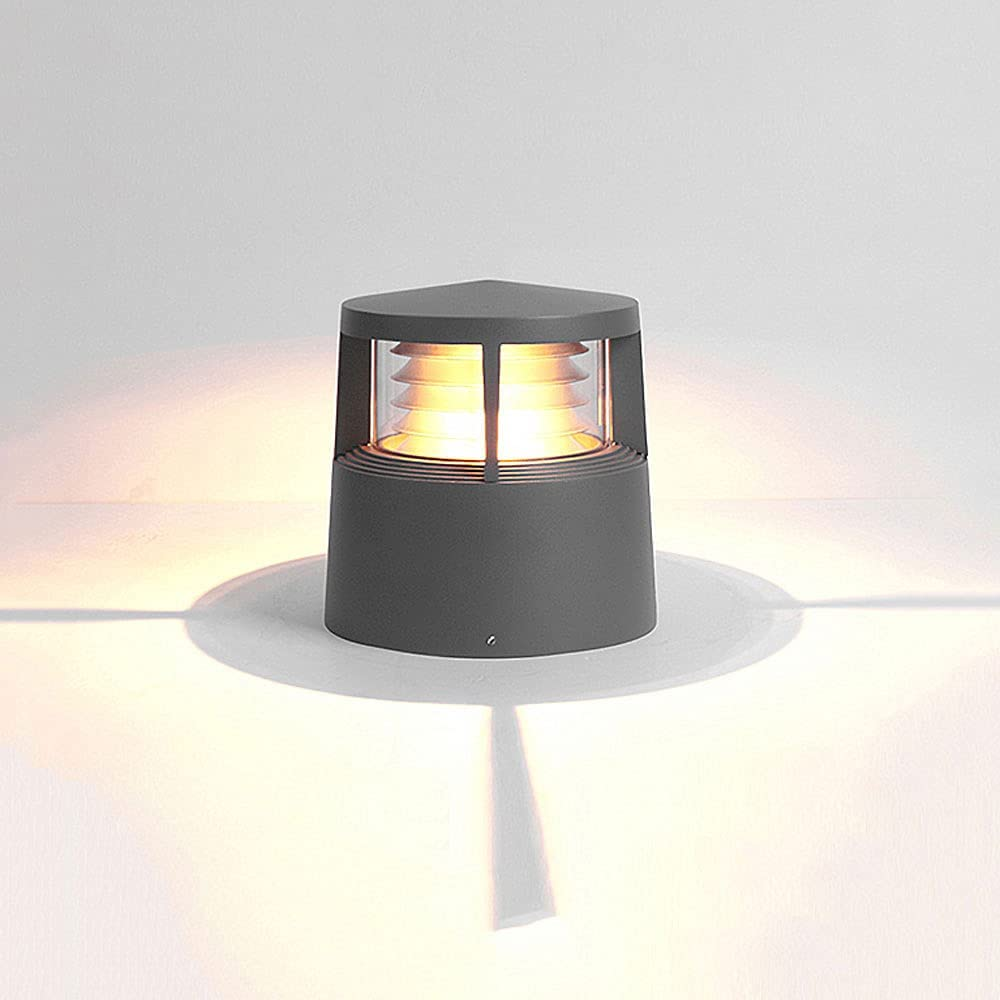 KAIKEA Black LED Super beauty product restock quality top! Cylindrical Post Light Exterior for Luxury Fixture Hou