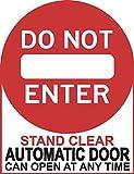 by Unbranded Pegatina de vinilo para puerta de 12,7 x 16,5 cm, con texto en inglés «Do Not Enter Automatico» para coche, motocicleta, camión, ventana, pegatinas divertidas, para jardín y pared