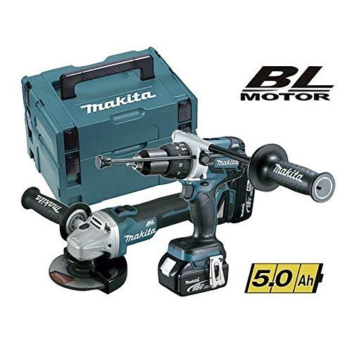 Makita dlx2130tj2–Kit Combo mit Tool DGA504Z 125mm + Schlagbohrmaschine dhp481z 115NM