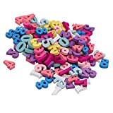 Materiale: legno Dimensione ca. 1,6 cm / 0,63 pollici I numeri colorati 0-9 bloccano le perle sciolte in legno adatte per i 3 anni in più. Giocattolo perfetto per i bambini per imparare numeri, contare, colori, per praticare concentrazione, pensiero ...
