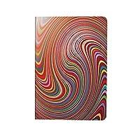 抽象的な家の装飾 PUレザー 第4世代 iPad 10.9ケース ブック型 抽象的な渦巻き色ツイスト発光芸術的なデザインイラスト装飾 スタンド機能 オートスリープ機能付き ース
