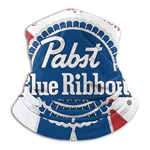 Pabst Blue Ribbon Beer Logo Men's Neck Gaiter Balaclava Bandana for Skiing Hiking Cycling