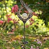 Garten-Solarleuchten im Freien Jiayida Metall Blume LED Stake Dekorative Lichter Gartenleuchte Solar Mond Gartenbeleuchtung Solarleuchte Deko Garten Gartenlampe für Terrasse Rasen Hinterhöfe