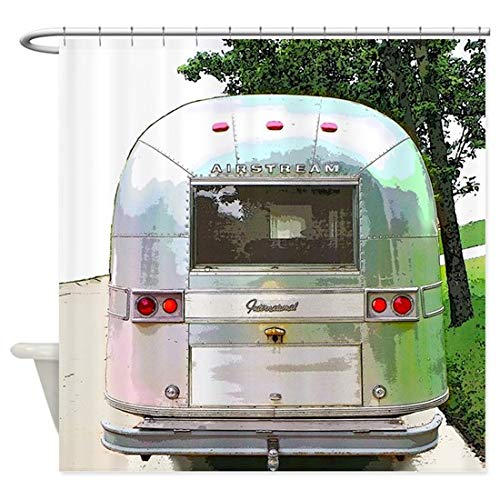"""Shower Curtain Vintage Airstream Home Bathtub Polyester Fabric Shower Curtain for Bathroom Decor Waterproof Washable 72""""X72"""""""