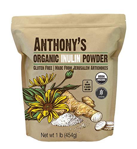 Anthony's Organic Inulin Powder, 1 lb, Gluten Free, Non GMO, Made from Jerusalem...