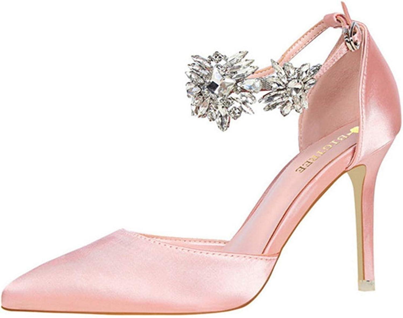 Owen Moll Kvinnor Kvinnor Kvinnor Pumpar, luxury Point Toe hög klack Rhinestones Strap Buckle skor  kommer att göra dig nöjd