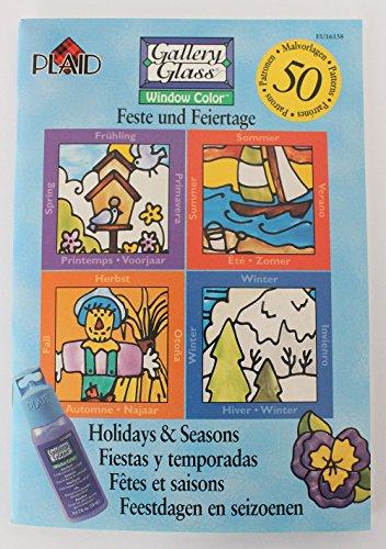 Plaid Enterprises Buch Window Color • Feste & Feiertage • NEU • 50 Malvorlagen