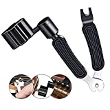 Guitar Winder Guitar String Winder and Cutter -All-In-1 Restringing Tool Includes Clippers Bridge Pin Puller Peg Winder Designed to Fit Most Guitars