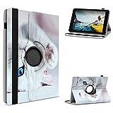 UC-Express Schutzhülle kompatibel für Medion Lifetab E6912 Tablet Tasche Hülle mit Standfunktion 360° drehbar Tablethülle Hülle, Farben:Motiv 5