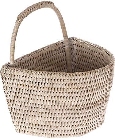 KOUBOO 1060075 La Jolla White-Wash Basket Max 81% OFF Wall Super sale period limited