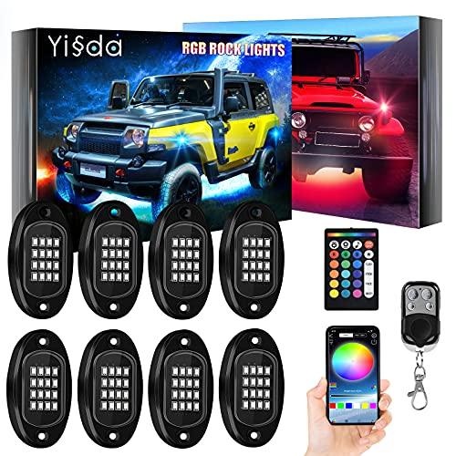 【Brightness Upgraded】 YISSDA RGB LED Rock...