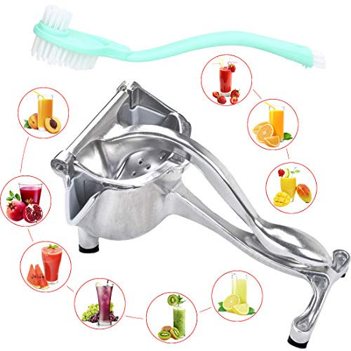 Manual Fruit Juicer Press that DO NOT PEEL and RUST made with Premium Quality Aluminium Alloy - Heavy Duty Hand Press Citrus Squeezer Citrus Press Fruit Squeezer Fruit Press and Lemon Squeezer - KOBEN