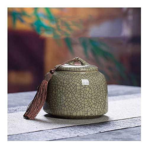 Tarro de Caramelo Celadon Patrón de Hielo Gran Tarro hermético, Caja de Almacenamiento de té de cerámica para té café Hierba azúcar Chocolate Especias Accesorios de Cocina (Color : Style 8)