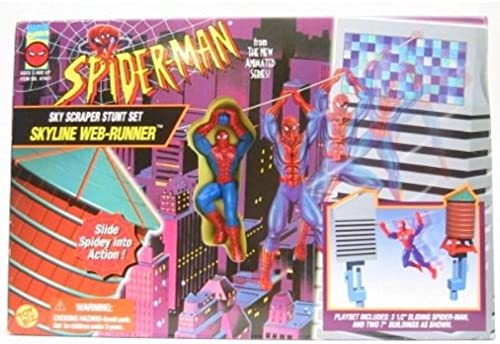 nueva gama alta exclusiva Spider-man Skyline Web-runner Playset by by by TOY BIZ  conveniente