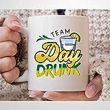 Taza de café borracho para el día del equipo, tequila, para bebedor de alcohol, regalo divertido para beber tequila,...