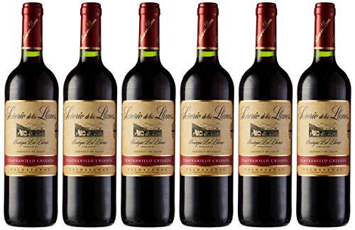 Señorío de los Llanos Vino Caza de 12.5º - Paquete de 6 botellas de 75 - Total 450 cl