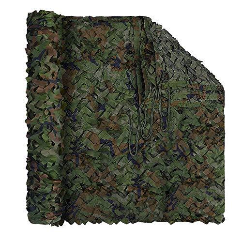 LOOGU - Red de camuflaje militar resistente con rejilla para decoración, parasol, caza, tiro o escondite de acampada, Bosque, 13.12x16.4ft(4x5m)