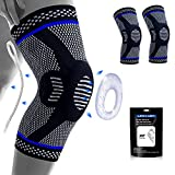 Lexniush Professional Knee Support for Men and Women, Anti Slip Knee Brace Compression Sleeve with Patella Gel Pads & Side Stabilizers for Running,Meniscus Tear,Arthritis,Joint Pain Relief
