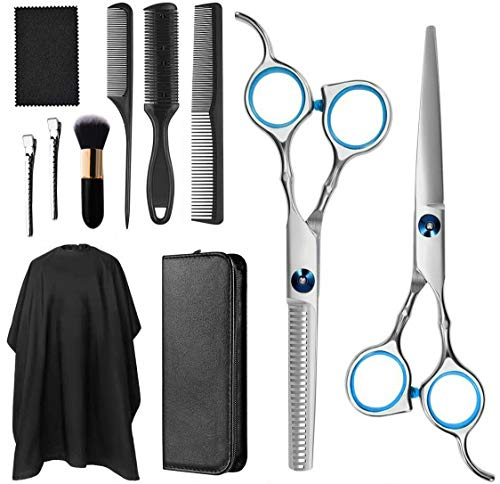 Barber Shears Hair Cutting Scissors, Stainless Steel Hairdressing Scissors Set for Barber Salon and Home, Pet Grooming