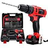 TEENO 21V Impact Cordless Drill Set with 2 Lithium Ion Batteries 1500mAh,25pcs Accessories,1