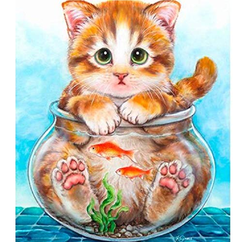 AZYVv Puzzle 1000 Teile 3D Erwachsene Puzzles Cat Aquarium Art DIY Leisure Game Spielzeug Heimtextilien