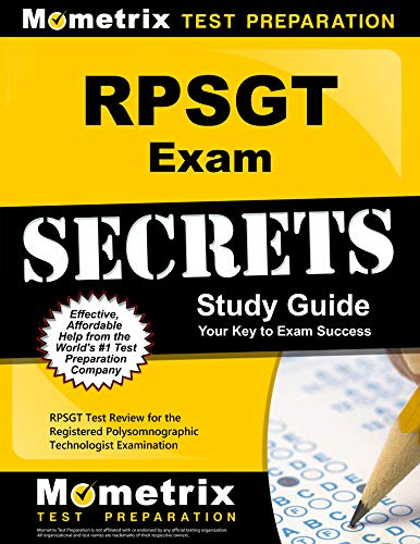 Download RPSGT Exam Secrets: RPSGT Test Review for the Registered Polysomnographic Technologist Examination (Mometrix Secrets Study Guides) 1610728335