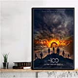 PCWDEDIAN The Season 100 TV Series Horror Show Movie Canvas Poster Prints Modern Oil Painting Wall Art Pictures Home Decor Pl121 50X70Cm