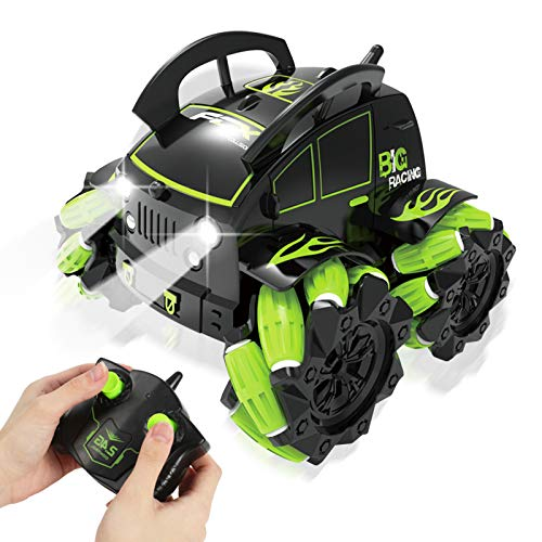 RC Stunt Car for Boys, Masefu 4WD 2.4 GHz Remote Control Stunt Vehicle - 360° Spinning Action Drift Racing Sliding Indoor Outdoor, RC Car for Beginners 4+ Years Old