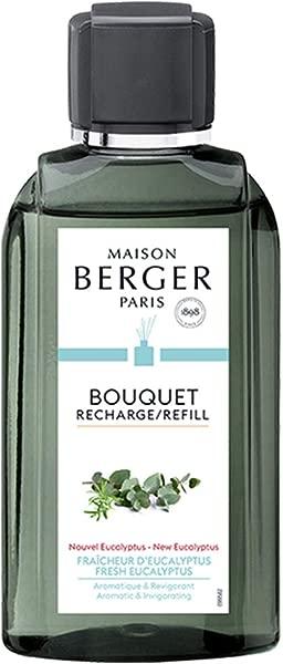 新鲜桉树芦苇棒扩散器香水补充香水家用香油扩散器净化和香料你的家 6 76 液体盎司中和不想要的家庭气味法国制造