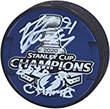 Steven Stamkos Tampa Bay Lightning 2020 Stanley Cup Champions Autographed 2020 Stanley Cup Champions Logo Hockey Puck with'2020 SC Champs' Inscription - Autographed NHL Pucks