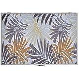 Tapa Contador de Luz Decorativo, Diseño Tropical, Hojas y Colores Tropicales 46x32x6 cm - Hogar y...