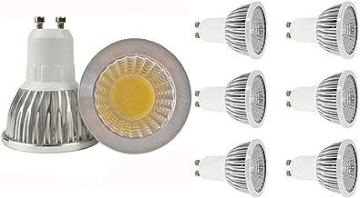 JKLcom GU10 LED Bulbs GU10 5W COB LED Bulbs Spotlight Bulb GU10 Base 5W 110V Not Dimmable,5W (Equivalent to 35W Halogen Bulb),Warm White 2700K,6 Pack