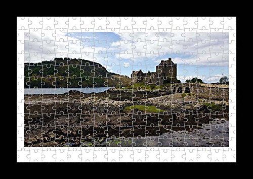 Puzzle Style (vormontiert) parete della Stampa di Eilean Donan Castle by Lisa loft