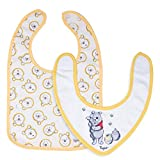 Tigex Baby Bandana & Feeding Bib, 100% Cotton, Fastening, Disney Winnie the Pooh, Pack of 2