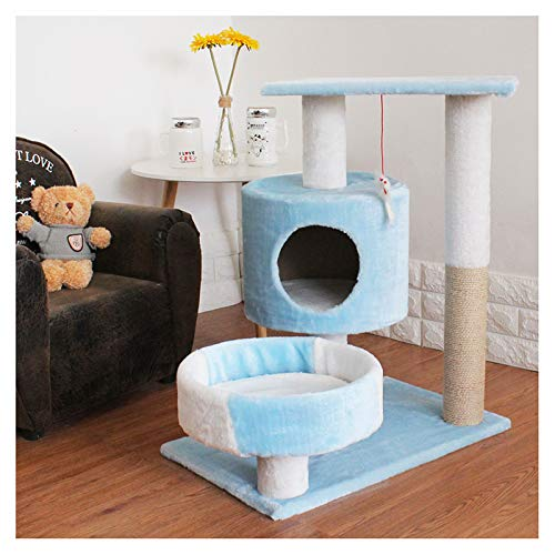 LPing Cat Tree Tower Cat Scratcher Activity Centre With Sisal Scratch Post,Kittens Furniture Play House