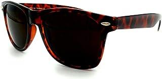 Legend Eyewear - Retro Super Dark Lens Non-Polarized Lens Square Horn Rimmed Sunglasses