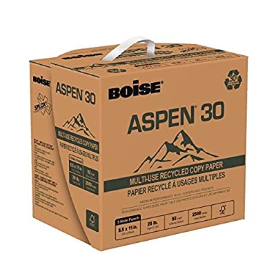 """BOISE ASPEN SPLOX Multi-Use Recycled Copy Paper, 8 1/2""""x11"""", 3 Hole Punch, 92 Bright White"""