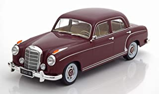 Mercedes 220S Limousine (W180 II), dunkelrot, 1956, Modellauto, Fertigmodell, KK Scale 1:18