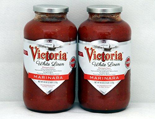 Victoria White Linen Marinara Sauce Twin pack ( 2- 40oz bottles )